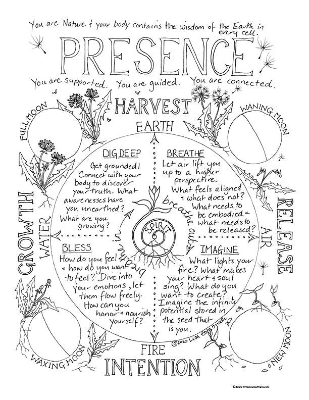 PRESENCE Coloring Page