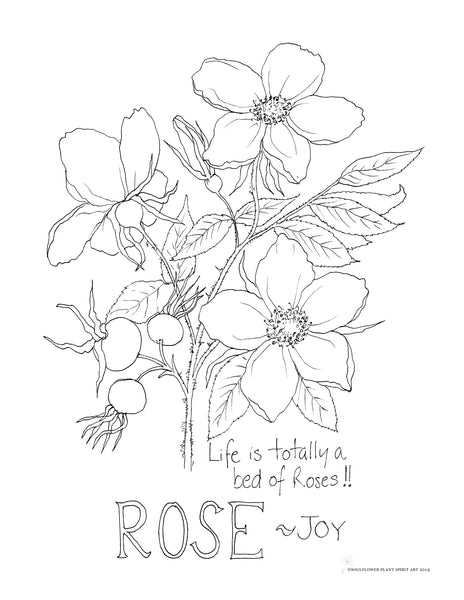 Rose (Joy) Coloring Page
