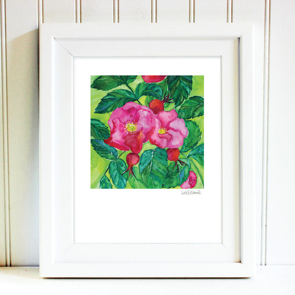 Signed Rose Print
