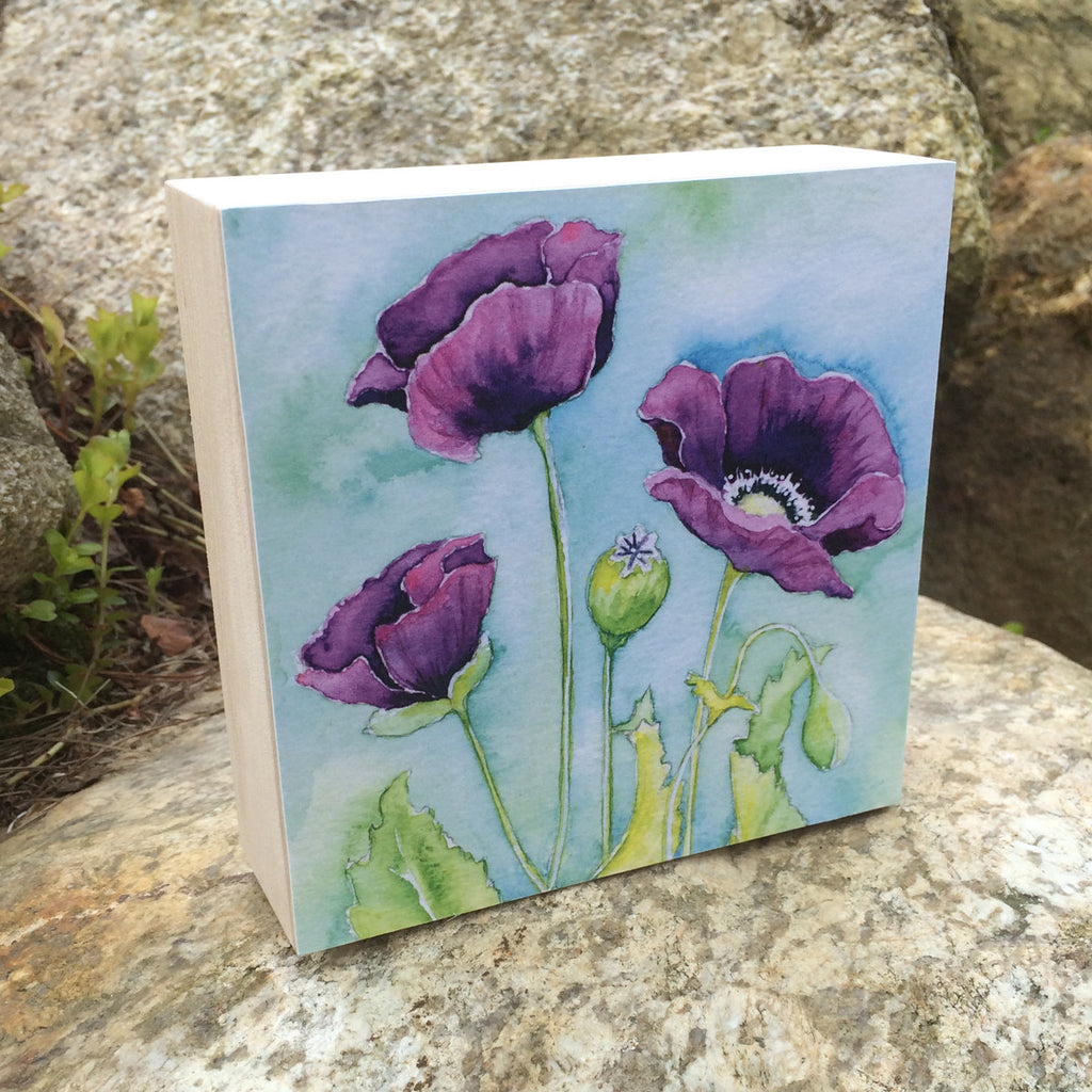 Purple Poppy (Evolution) Mounted Print