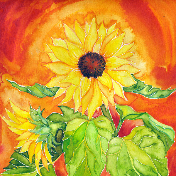 Sunflower (Confidence) Mounted Print