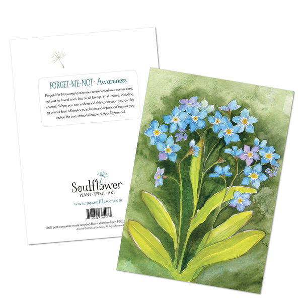 Forget-Me-Not (Awareness) Card