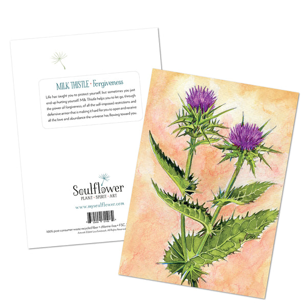 Milk Thistle (Forgiveness) Card