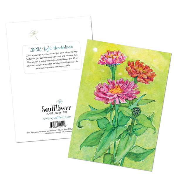 Zinnia (Light-Heartedness) Card