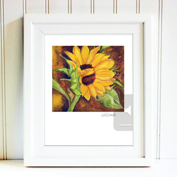 Signed Sunflower Print