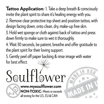 Sunflower (Confidence) Temporary Tattoo - My Soulflower