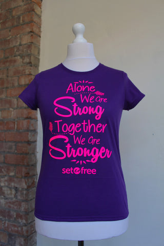 Stronger T-Shirt (Purple)