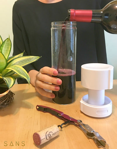 """Received my Sans and I just love the sleek design and game changing function! This has made my life and daily routine so much easier! I can make my smoothie at night and it's there for me whenever I'm ready for it! It's so easy to use and clean!"""