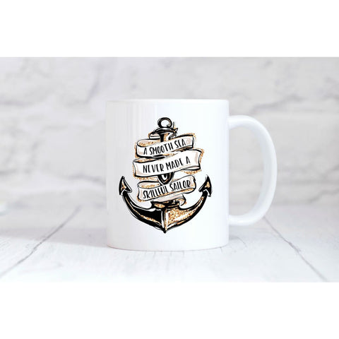 A Smooth Sea Coffee Mug - Simply Crafty