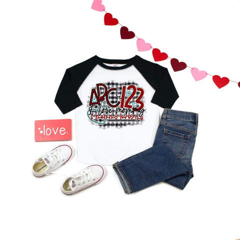 ABC 123 Mommy Loves Me Boys Valentine's Day Shirt - Simply Crafty