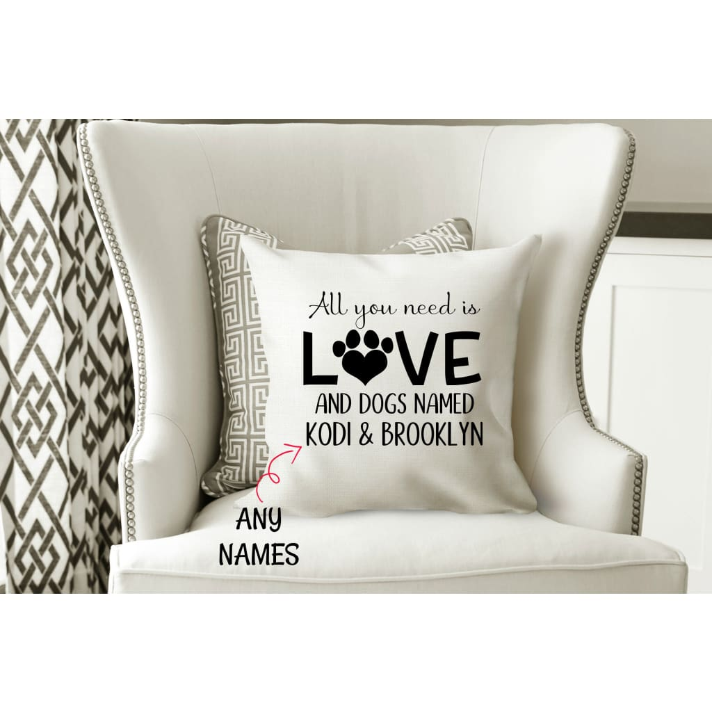All You Need Is Love And A Dog Cat Named Personalized Pet Gift Throw P Simply Crafty