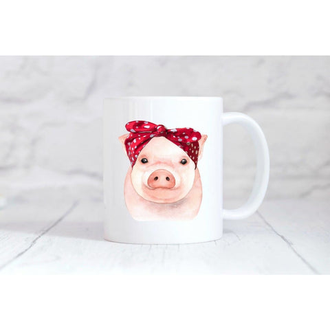 Bandana Pig Coffee Mug - Simply Crafty