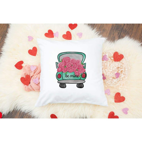 Be Mine Truck Valentine's Day Gift Throw Pillow - Simply Crafty