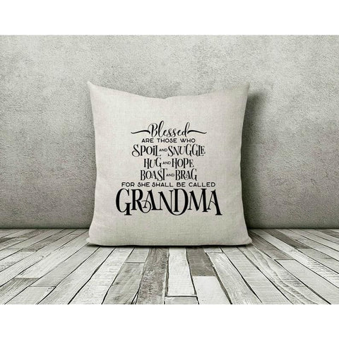 Blessed Grandma Gift Throw Pillow - Simply Crafty