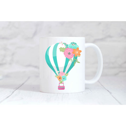 Blue Hot Air Balloon Coffee Mug - Simply Crafty