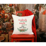Christmas Cardinal Personalized Grief Gift Throw Pillow - Simply Crafty