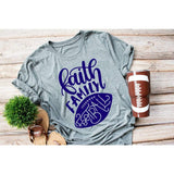 Faith Family and Football Womens Shirt - Simply Crafty