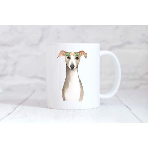 Floral Greyhound Dog Coffee Mug - Simply Crafty