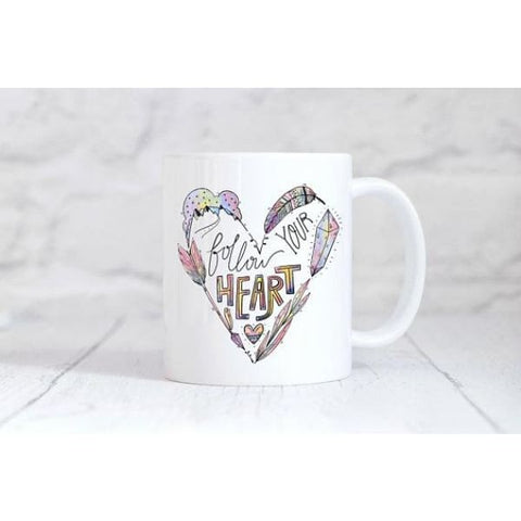 Follow Your Heart Coffee Mug - Simply Crafty