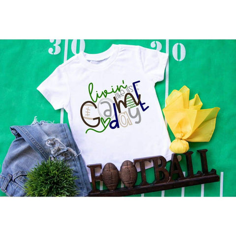 Football Game Day Kids Sports Shirt - Simply Crafty