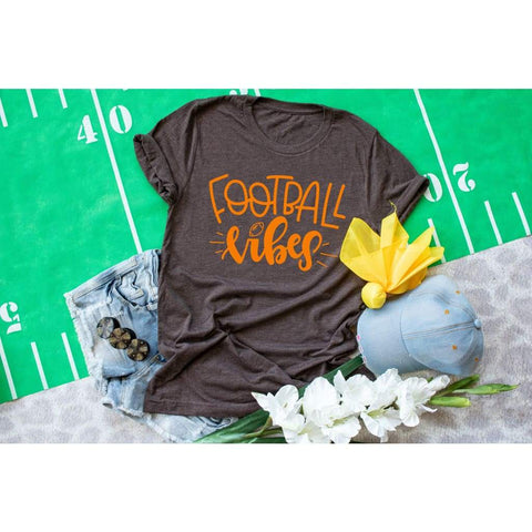 Football Vibes Women's Shirt - Simply Crafty
