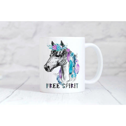 Free Spirit Horse Coffee Mug - Simply Crafty