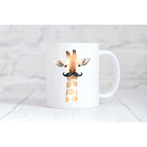 Giraffe Mustache Coffee Mug - Simply Crafty