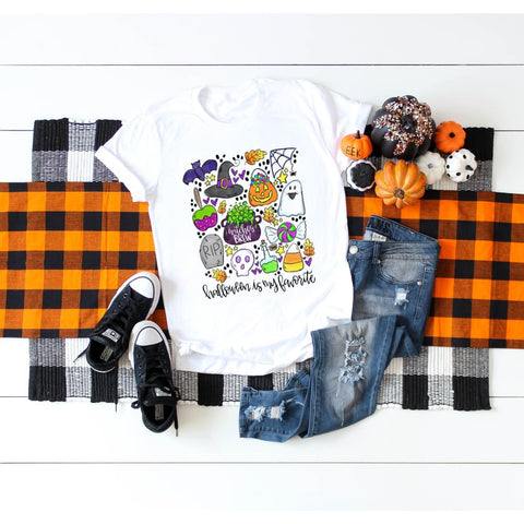 Halloween is my Favorite Subway Scatter Polyester Shirt - Simply Crafty