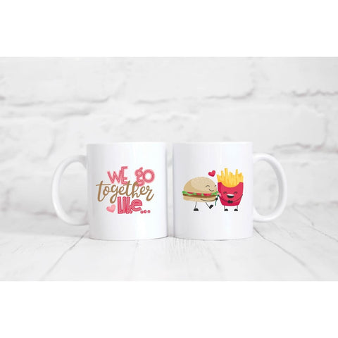 Hamburger And Fries Coffee Mug - Mugs