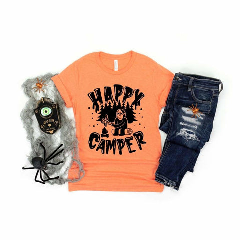 Happy Camper Friday the 13th Funny Horror Halloween Shirt - Simply Crafty