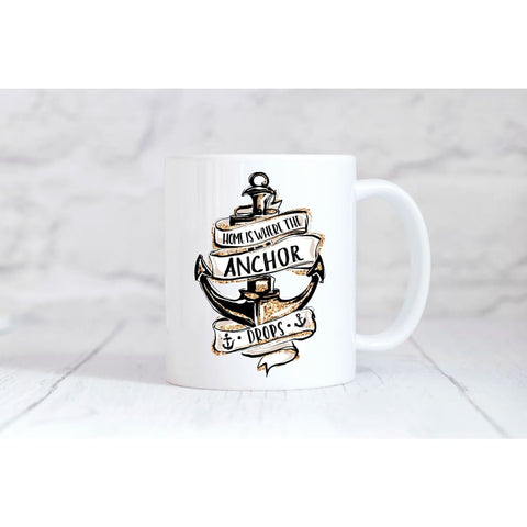 Home is Where the Anchor Drops Coffee Mug - Simply Crafty