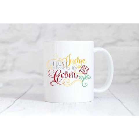 I Don't judge A Book By Its Cover Coffee Mug - Simply Crafty