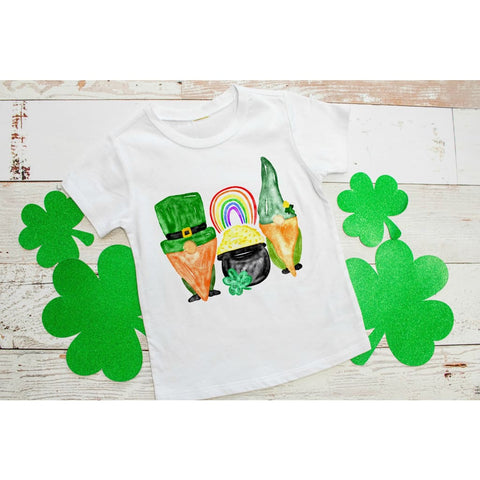 Irish Gnomes Kids St Patrick's Day Shirt - Simply Crafty