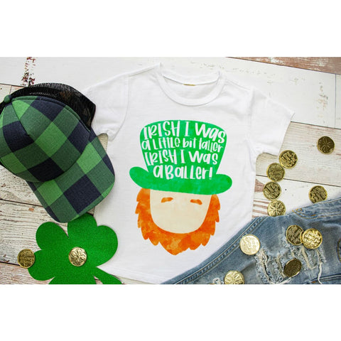 Irish I was Taller Funny Boys St Patrick's Day Shirt - Simply Crafty