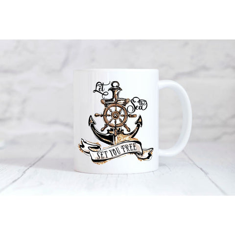 Let the Sea Set You Free Coffee Mug - Simply Crafty