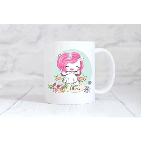 Libra Zodiac Unicorn Coffee Mug - Simply Crafty