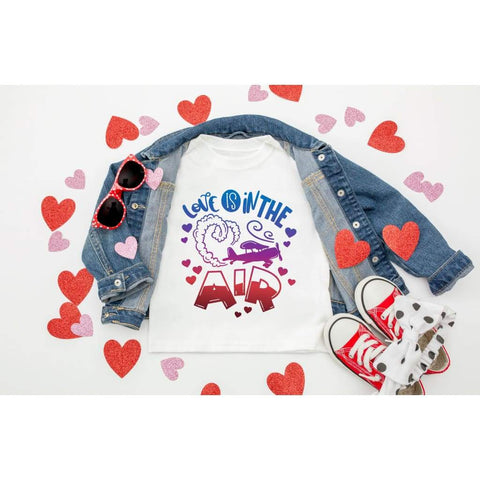 Love is in the Air Airplane Valentine's Day Shirt - Simply Crafty