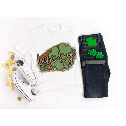 Lucky Cheetah Clover St Patrick's Day Shirt - Simply Crafty