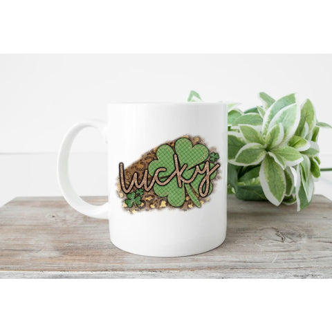 Lucky Cheetah St Patrick's Day Coffee Mug - Simply Crafty