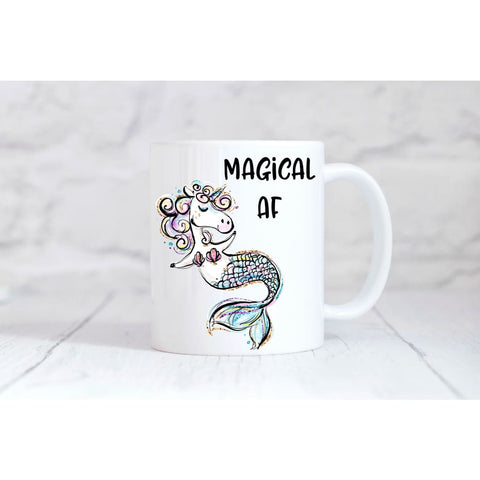 Magical AF Unicorn Mermaid Coffee Mug - Simply Crafty