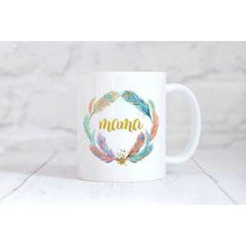 Mama Feathers Coffee Mug - Mugs
