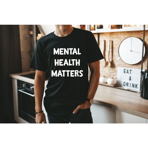 Mental Health Matters Dad Father's Day Bella Canvas Tshirt - Simply Crafty