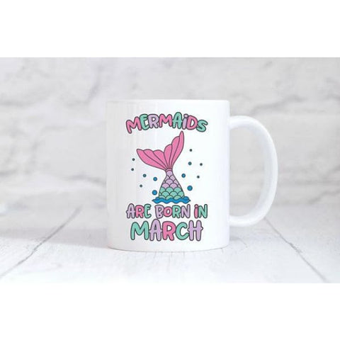 Mermaids Are Born In Unicorn Coffee Mug - Simply Crafty