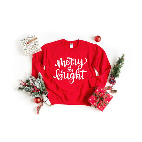 Merry and Bright Christmas Shirt - Simply Crafty