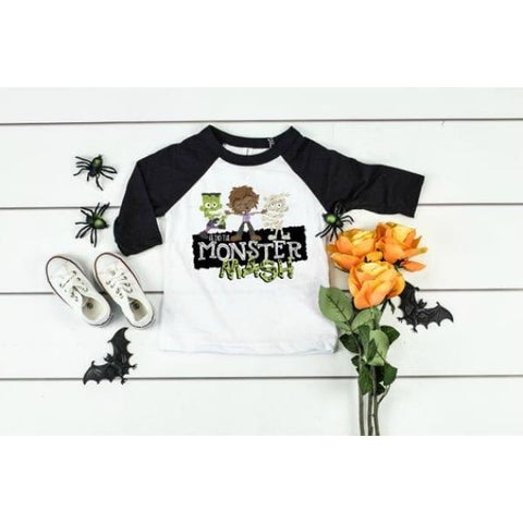 Monster Mash Halloween Raglan Shirt - Shirts