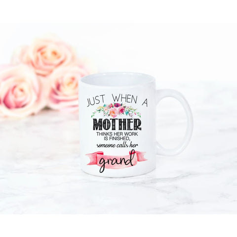 Mother's Day Great Moms Get Promoted to Grandma Coffee Mug - Simply Crafty