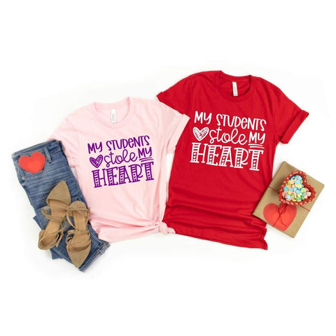 My Students Stole My Heart Teacher Valentine's Day Shirt - Simply Crafty