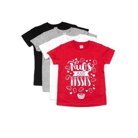 Nugs and Kisses Funny Boys Valentine's Day Shirt - Simply Crafty