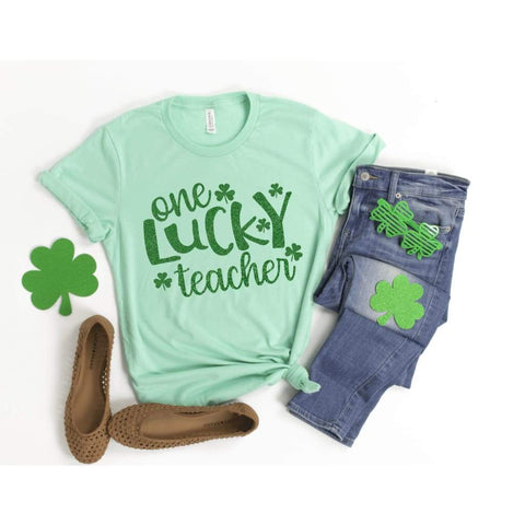 One Lucky Teacher St Patrick's Day Shirt - Simply Crafty