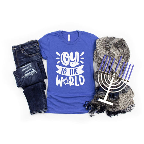 Oy to the World Funny Hanukkah Shirt - Simply Crafty